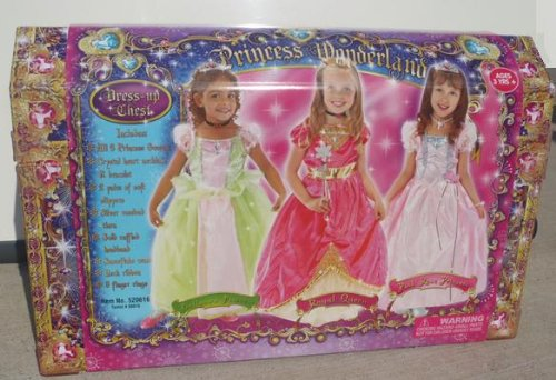 Little Girl Princess Wonderland Dress up Chest