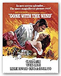 "Gone With the Wind by Anonymous 11""x14"" Art Print Poster"