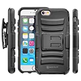 Minisuit Rugged Clipster Kickstand Case + Belt Clip for Apple iPhone 6 4.7 inch - Black