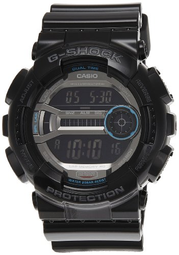 Casio Men's GD110-1 G-Shock Black Resin 60 Lap Digital Sport Watch (Gshock Lap Timer compare prices)