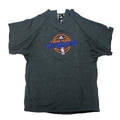 Carmelo Anthony Sweatshirt - NY Knicks 2012-2013 Season Game Used Grey Short Sleeve...