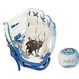 Franklin Sports Disney Frozen Air Tech Glove And Ball Set, 8.5-Inch, White/Blue