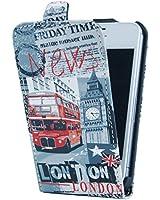 Akashi Etui à rabat pour iPhone 4/4S London News