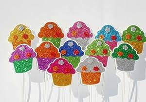 Foam Cupcake Sticks for Party Decoration 12 Pcs