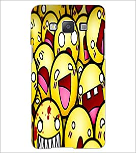 PrintDhaba Smileies D-5602 Back Case Cover for SAMSUNG GALAXY E5 (Multi-Coloured)