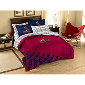 MLB St. Louis Cardinals Full Bed in a Bag with Applique Comforter by Northwest