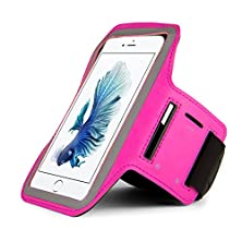 buy Premium Outdoors Running Sports Gym Armband Pouch Case For One Plus X / Lg Nexus 5X / Blackberry Priv / Alcatel Onetouch Idol 3 5.5 / Verykool S6001 Unlocked Phone (Magenta)