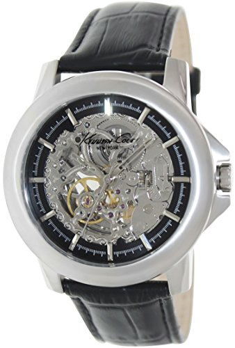 Kenneth Cole New York Men's KC1979 Automatic Silver Black Dial Black Strap Watch