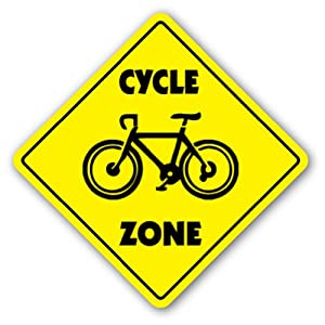 Bike Zone CYCLE ZONE Sign xing gift