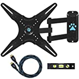Cheetah Mounts ALAMLB LCD TV Wall Mount Bracket with Full Motion Swing Out Tilt and Swivel Articulating Arm for 23-37' Flat Screen Displays with VESA 75 to 400 Mount Patterns