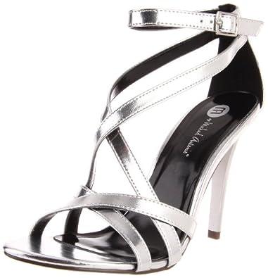 Michael Antonio Women's Jennings-Met Sandal,Silver Metallic,10 M US