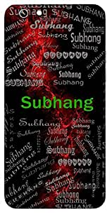 Subhang (Lord Shiva) Name & Sign Printed All over customize & Personalized!! Protective back cover for your Smart Phone : Apple iPhone 5/5S