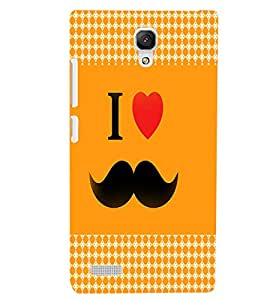 XIAOMI REDMI NOTE I LOVE MUSTACHES Back Cover by PRINTSWAG