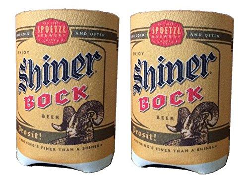 Spoetzl Brewery Shiner Bock Beer Can Kaddy Koozie Huggie Cooler Set of 2 (Shiner Bock Merchandise compare prices)