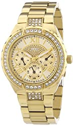Guess Analog Gold Dial Womens Watch - W0111L2