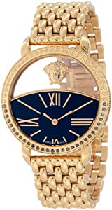 Versace Women's 93Q86D08C S080 Krios Rose Gold Ion-Plating Black Enamel and Transparent Dial Watch