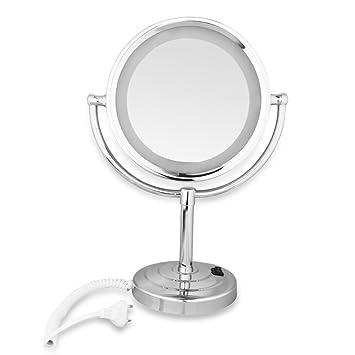 Wmicro led miroir de de table chrom for Dormir face a un miroir