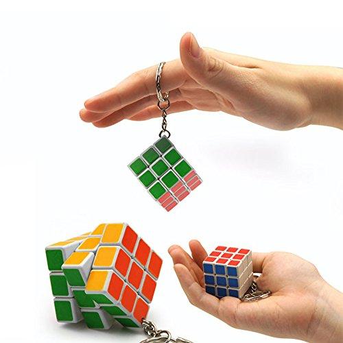 Guang Lian Mini Keychain 3*3*3 Rubik Cube Puzzle Magic Game Toy-1pcs