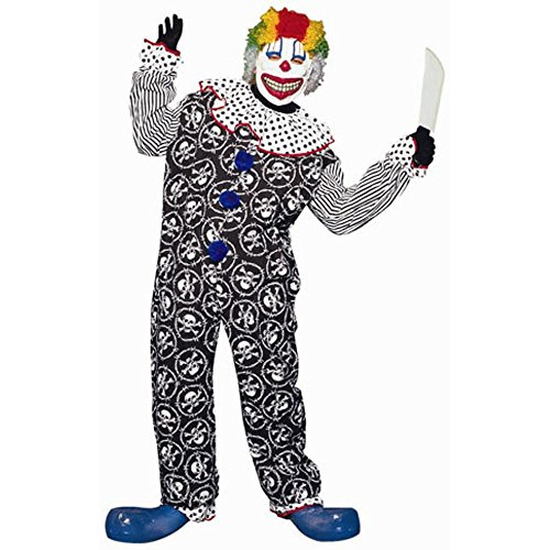 Adult's Scary Clown Costume (Size: Standard 42-46)