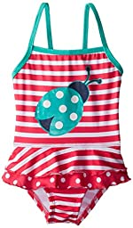 Pink Platinum Baby Girls\' Stripe Lady Bug 1 Piece, Pink, 18 Months