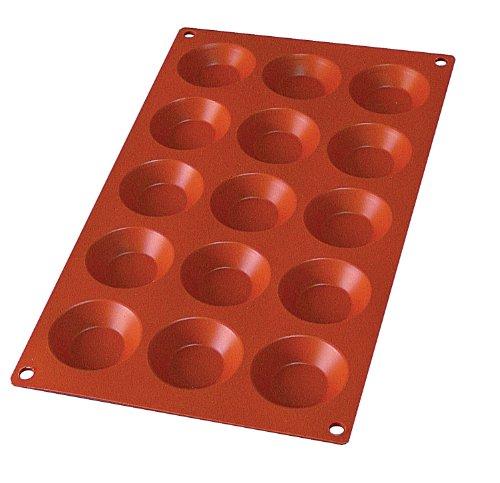Lekue 15 Cavity Tartalette Mold, Terracota