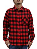 (リアルコンテンツ)REAL CONTENTS チェックシャツ メンズ 大きいサイズ ブロック チェック シャツ (XXL, RED)
