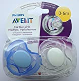 Philips Avent Free Flow Soother Twin Pack 0-6m (Blue / Clear)