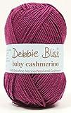 DEBBIE BLISS BABY CASHMERINO HAND KNITTING YARN WOOL Crochet 50g Damson 87