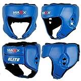 Max Adjustable Boxing Martial Art Head Guard Protector Helmet blue small-xlarge