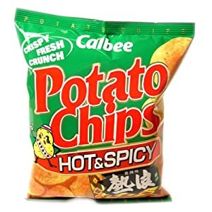 Calbee Potato Chips-hot Spicy from Calbee