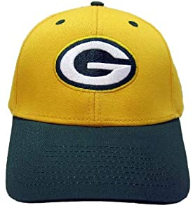 NFL Green Bay Packers Basic Logo Velcro Closure Baseball Hat, Yellow by Eclipse Specialties