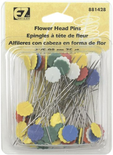 Review Of Wrights 881428 Flower Head Multicolor Pins, 75-Pack