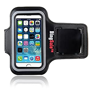 Bingsale Apple iPhone 5S 5C 5 Original Neoprene Deluxe Dual Fit Easy Fit Freizeit und Sport Armband Armtasche in Schwarz