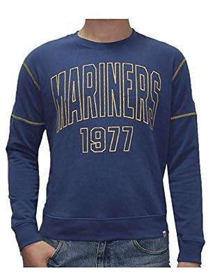 MLB Mens Seattle Mariners Athletic Warm Sweatshirt (Vintage Look)
