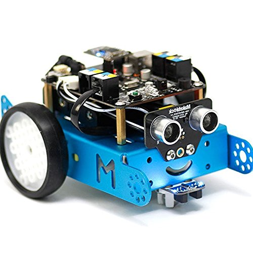 Makeblock mBot 1.0 Kit - STEM Education - Arduino - Scratch 2.0 - Programmable Robot Kit for Kids to Learn Coding, Robotics and Electronics - Blue(Bluetooth Version - Family Prefer)