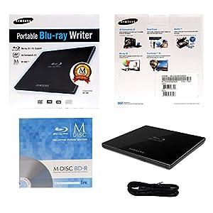 Samsung SE-506CB/RSBDM 6X USB 2.0 External Slim Blu-ray BDXL DVD CD Burner Writer Drive in Retail Box + FREE MDisc BD-R + USB Cable