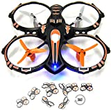 RC Stunt Drone Quadcopter w/ 360 Flip: Crash Proof, 2.4GHz, 4 CH, 3 Bladed Propellers, Extra Drone Battery for Extended Fly Time w/ Practice Landing Pad, USB Charger & Spare Parts