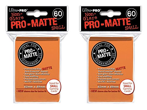 120 Ultra Pro Orange SMALL PRO-MATTE Deck Protectors Sleeves Colors Yugioh Vanguard [2 Packs of 60]
