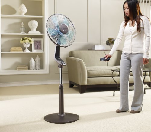 rowenta vu5551 turbo silence oscillating 16 inch stand fan. Black Bedroom Furniture Sets. Home Design Ideas