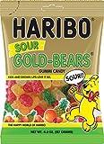 Haribo Sour Gold-Bears Gummi Candy Bag (4.5 oz/127g) (12 Bags)