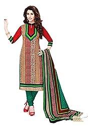 Aarvi Women's Cotton Unstiched Dress Material Multicolor -CV00130