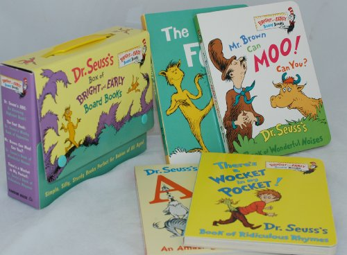 Dr. Seuss's Box of Bright and Early Board Books (Dr Seuss Mr Brown Can Moo compare prices)