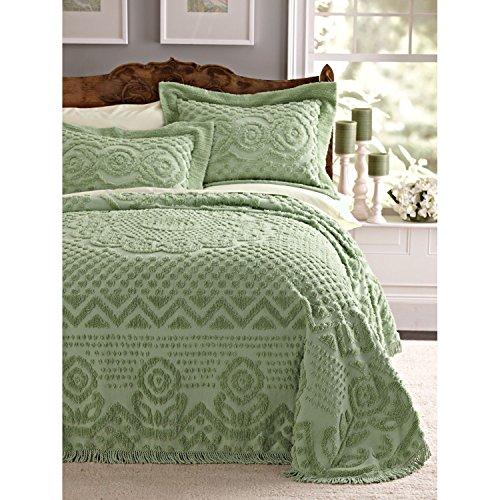 Blair Home Heirloom Chenille Bedspread - Queen Sage front-1038976