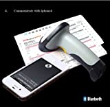 Ariic® New 1d Laser USB Wireless Bluetooth Barcode Scanner for Apple I Pad Ios Android