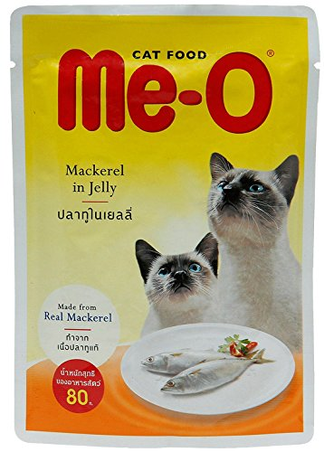Me-O Meo Real Mackerel In Jelly 80G./Pack (12 Packs)