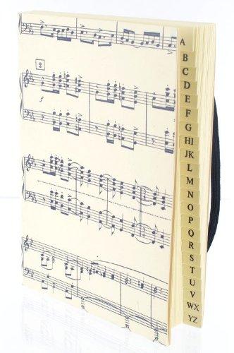 Adressbuch-mit-Gummiband-Butterfly-mittel-Schnes-Geschenk-fr-Musiker