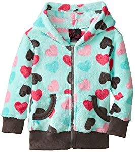 Girls Rule Little Girls' Heart Zipup Hoodie, Mint, 6