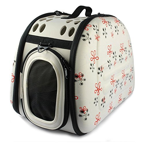 Pet Artist Soft-sided Portable Puppy Doggie Kitten Carrier,Beige Small Medium Cat Dog Crate or Luggage for Travel Outdoor