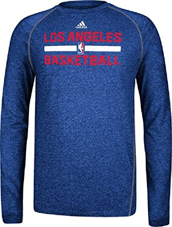 Los Angeles Clippers Adidas 2013 Blue Long Sleeve Climalite T-Shirt by adidas
