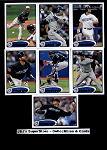2012 Topps Toronto Blue Jays Complete Master Team Set (Series 1,2,plus update series) - 29 Cards -- Bautista, Frasor, Lincoln, Francisco, Perez, Delabar, Oliver, Lyon, Happ, Santos, and Hutchison